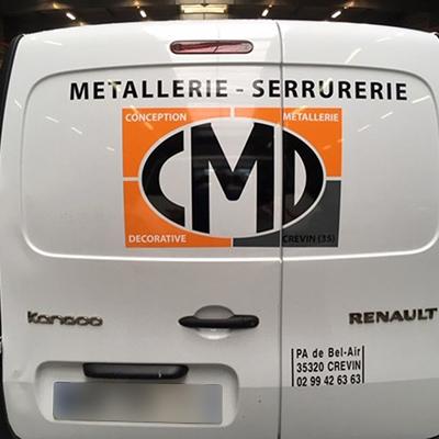 Habillage publicitaire de véhicules CMD